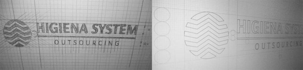 szkic logo hs outsourcing
