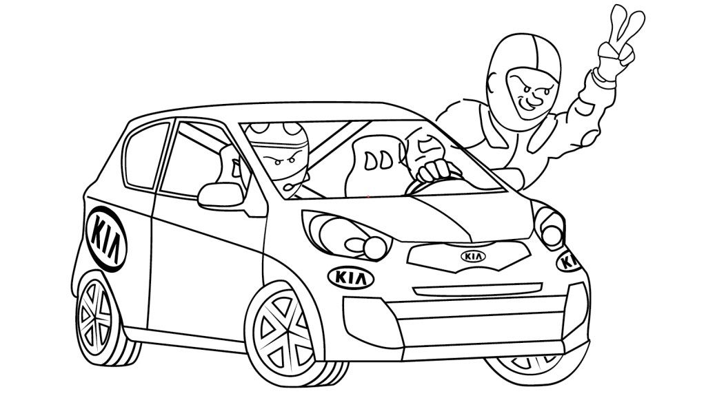 Dodatkowe dwie postacie w Logo dla zawodnika Kia Lotos Race