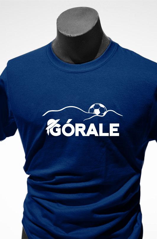 Wzór koszulki klubowej TS Podbeskidzie, na bazie której zostało opracowane logo gazetki klubu kibica.