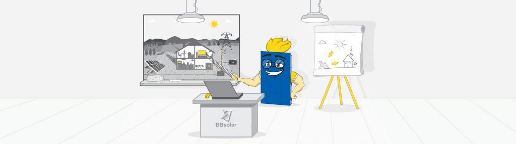 Brand hero edukujący jak pozyskiwać energię z paneli fotowoltaicznych