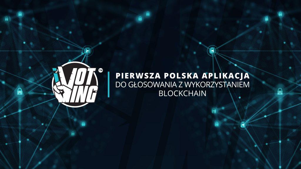 Logo iVoting z podpisem - Pierwsza Polska Aplikacja do głosowania z wykorzystaniem blockchain