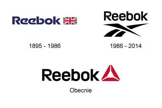 zestawienie trzech logo Reebok