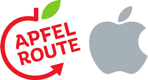 Apple zarzuca, że logo Apfel Route jest zbyt podobne do ich własnego