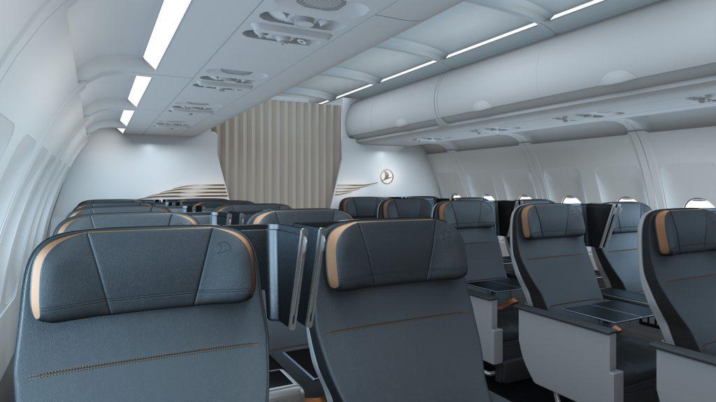 Turkish Airlines wygląd kabiny pierwszej klasy