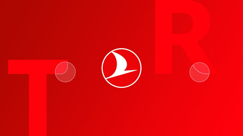 Turkish Airlines podgląd zmian w typografii