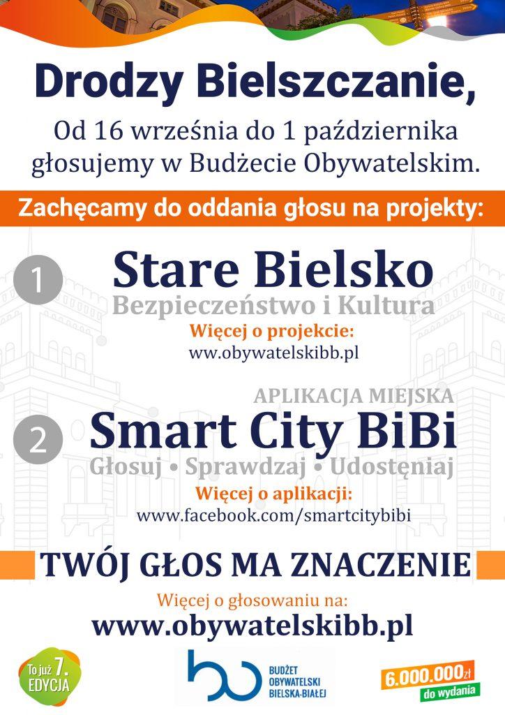 plakat głosowanie budżet obywatelski Bielsko-Biała
