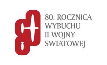 Oficjalne logo 80. rocznicy wybuchu II wojny światowej