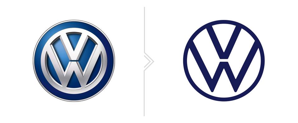 stare oraz nowe logo vw